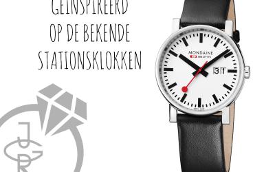 Het Zwitserse merk Mondaine heeft zich laten inspireren door de bekende stationsklokken….